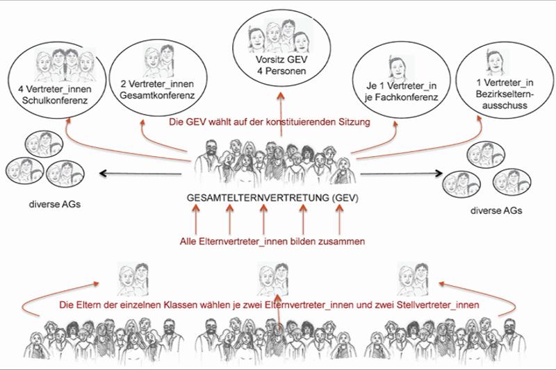 Organigramm der Gesamtelternvertretung