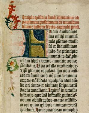 Die erste Seite der erst gedruckten Bibel