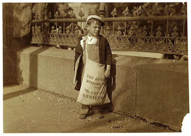 Freddie Kafe,5 od. 6 Jahre alt, Zeitungsverkaufer, California, 1915 - Lewis Hine, Library of Congress