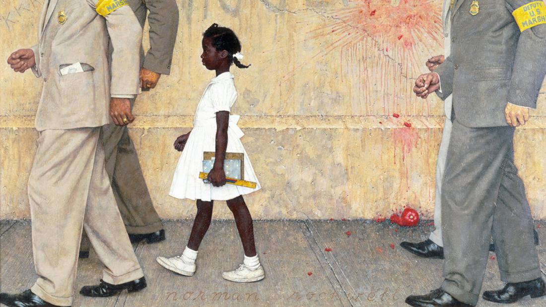 """""""Das Problem, mit dem wir alle leben"""", Ruby Bridges bei Norman Rockwell, 1961 - Wikipedia"""