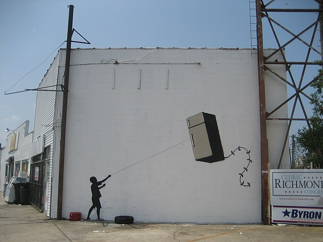 Banksy's Fridge - Foto: Infrogmation- Lizenz CC2.0