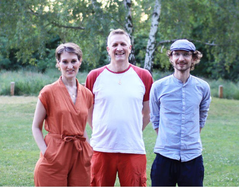Der Vorstand des Fördervereins: Alexandra, Jens und Vinzenz